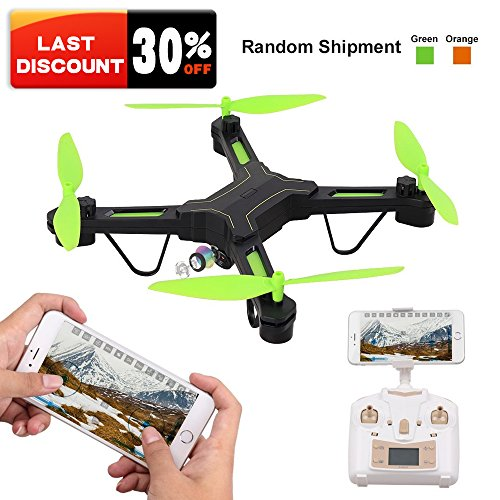 RC Drone for Beginners with Wide Angle Camera, Rolytoy 2.4 GHz 6-Axis Gyro Helicopter, HD Camera FPV Wifi Live Video Altitude Hold Headless Mode One Key Return Easy Operation for Kids. (Color Random) by Rolytoy