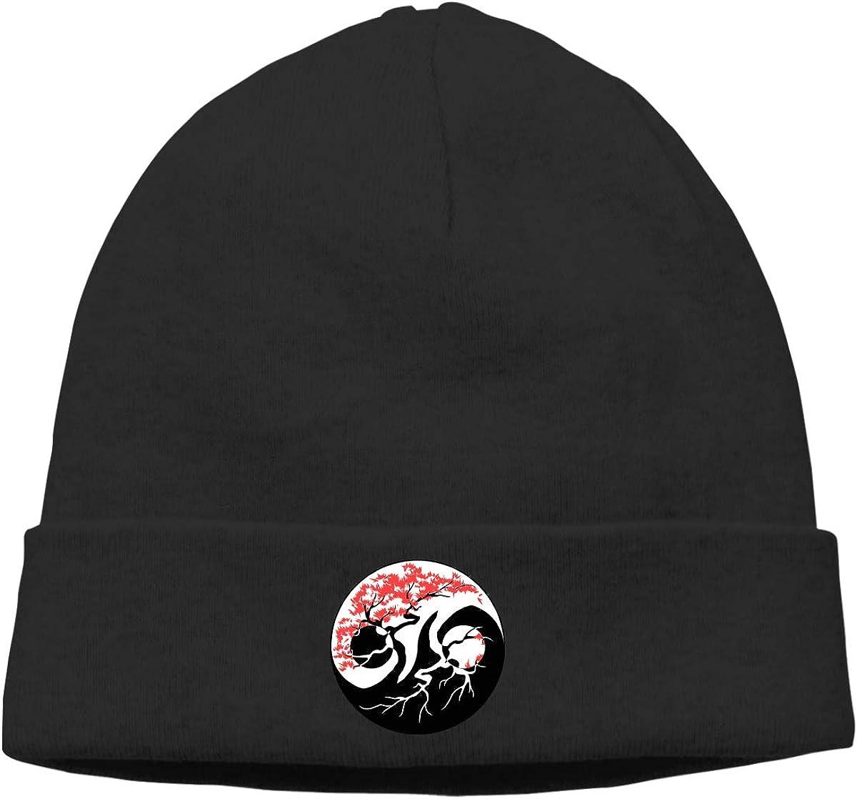 Sootot Bonsai Tree Beanie Hats Cap Mens/&Womens Warm /& Stylish Skull Cap Knit Cuff Beanie