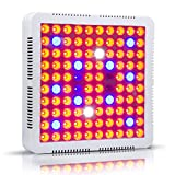 CF Grow 300W LED Grow Light 2 Chips/Full Spectrum Grow Lamp with UV&IR for Greenhouse Hydroponic Indoor Plants Veg/Flower/ Special Plant of Growth Stage