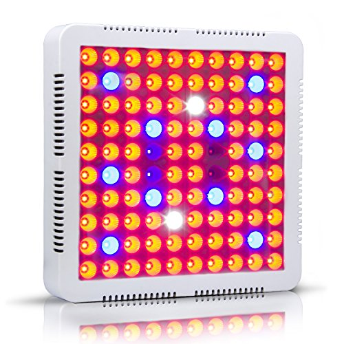 CF Grow 300W LED Grow Light 2 Chips/Full Spectrum Grow Lamp with UV&IR for Greenhouse Hydroponic Indoor Plants Veg/Flower/ Special Plant of Growth Stage by CF Grow