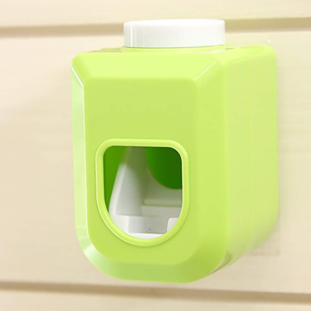 Dispenser per dentifricio a Mani libere spremientifricio Automatico spremere Il dentifricio 60 x 6,5 x 90 mm Green ToDIDAF in plastica