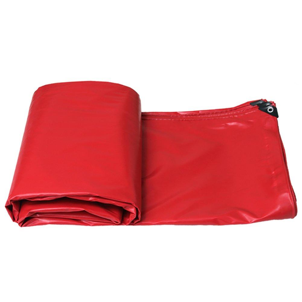 GUOWEI-pengbu ターポリン キャンバス シェード 日焼け止め 防水 老化防止 腐食保護 ポリエステル糸 屋外 5色 (色 : Red, サイズ さいず : 5.85x4.8m) B07FZ6VNFP 5.85x4.8m|Red Red 5.85x4.8m