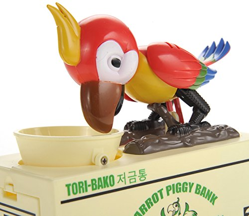 PowerTRC Beautiful Parrot Coin Saving Bank Piggy Bank Money Box for Kids