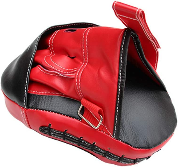 LIOOBO One Pair Focus Pads PU Leather Adjustable Focus Punch Mitts Boxing Punch Mitts Target Focus Training Hand Pads