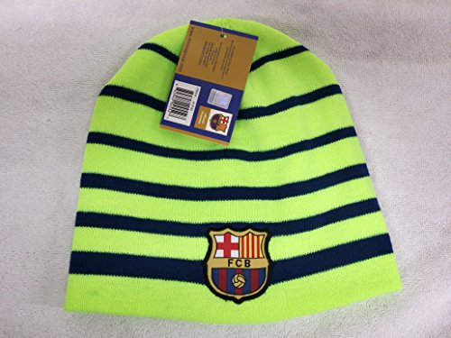 Fc Barcelona Winter Fitted Skully Cap Beanie Hat