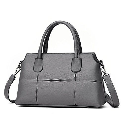 KYOKIM Bolso De Hombro De La Mujer Messenger Bag Stitching Simple Fashion Lightgray