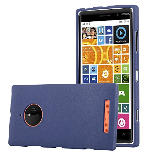Cadorabo Case Works with Nokia Lumia 830 in Frost Dark Blue - Shockproof and Scratch Resistant TPU Silicone Cover - Ultra Slim Protective Gel Shell Bumper Back Skin (Nokia 830 Case Holster)