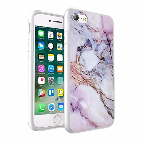 iPhone X Hülle, einzigartige Custom Design Prodective harte zurück dünner dünner Fit PC Bumper Case Kratzfeste Abdeckung für iPhone X - Marmorentwurf 002
