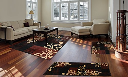 Home Dynamix Area Rugs Ariana Collection 3 Piece Living Room Rug Set Ultra Soft Super