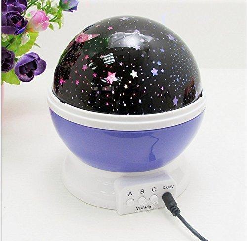 Rotating Cosmos Star Projector Milky Way Starry Sky Nightlight Sun And Star Lighting Lamp 4 Led Beads 360 Degree Romantic Room Starry Star Moon Sky Night Projector Lamp Kids Bedroom Lamp For Christmas