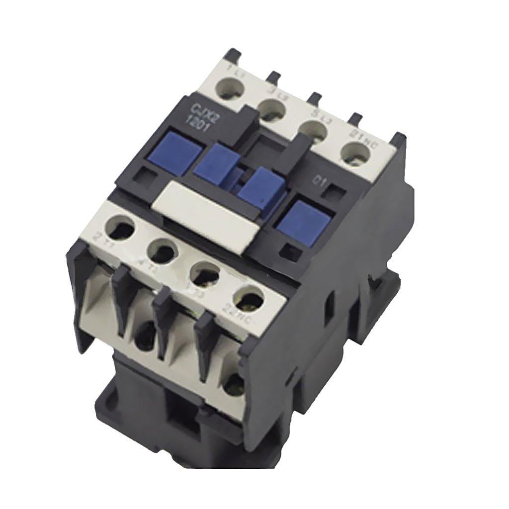 Dovewill High Strength CJX2-1201 AC 24V-380V Coil 3-Phase 50/60Hz Motor Starter Contactor - 220V by Dovewill (Image #4)
