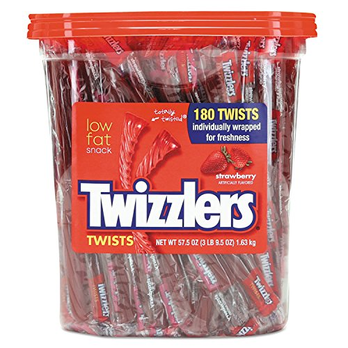 Hershey 884064 Strawberry Twizzlers Licorice, Individually Wrapped, 180/Tub]()