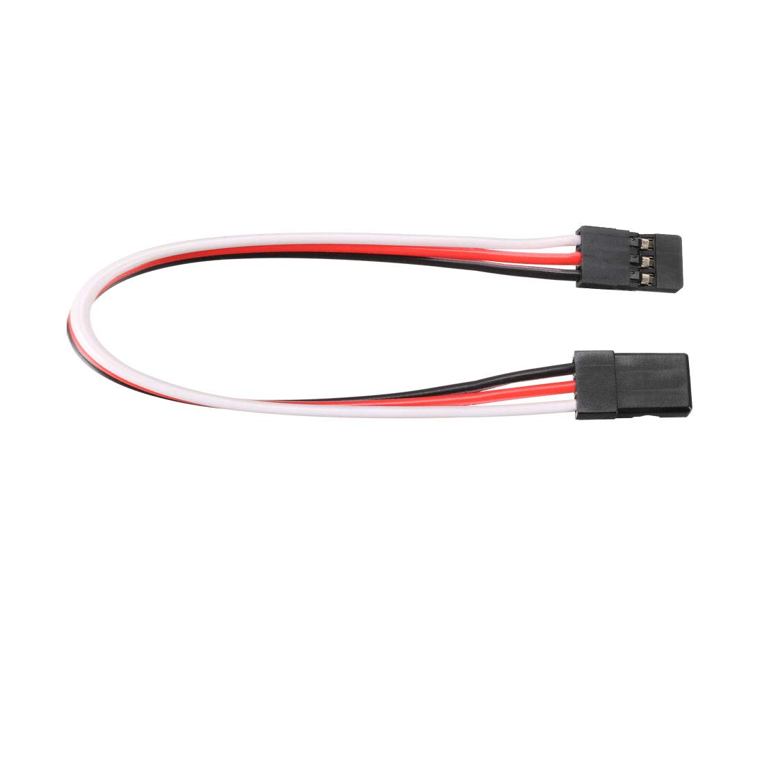uxcell 5Pcs 32.5CM 3-Pin Male to Male Lead Servo Extension Cable Cord Connectors 22AWG 60-Cores Wire for RC Futaba JR Servo
