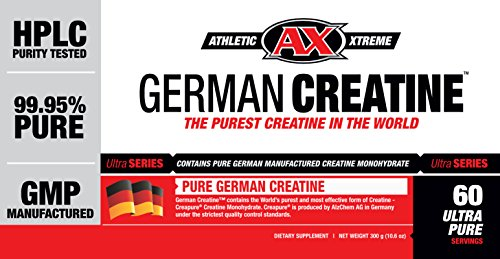 German Creatine (300g Creapure, the Purest Creatine Monohydrate Available) 60 Servings