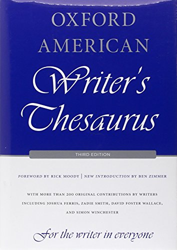 (Oxford American Writer's Thesaurus)