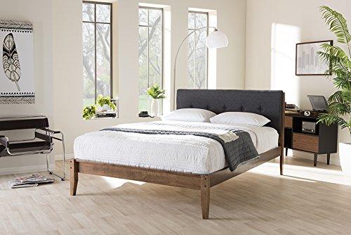 Baxton Studio Leyton Queen Platform Bed in Gray