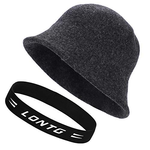 QCHOMEE Lady Wool Knit Vintage Japanese Fisherman Hat Cap Casual Versatile Wool Felt Basin Cap Bucket Hat Korean Version Winter Beret Hat