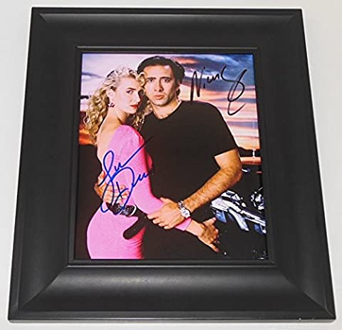 Wild at Heart Laura Dern Nicolas Cage Signed Autographed 8x10 Glossy Photo Gallery Framed Loa (Left Behind On Blu Ray)