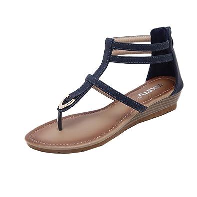 PLOT Damen Sandalen Sommer2018 Hot Sale Einfarbig Flip Flops Damen Offene Sandalen Damen Flache Schuhe Damen...