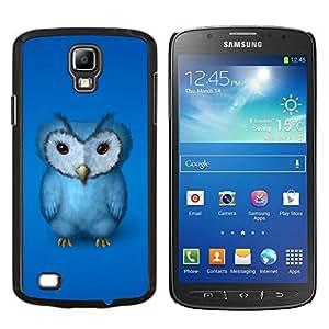 "Be-Star Único Patrón Plástico Duro Fundas Cover Cubre Hard Case Cover Para Samsung i9295 Galaxy S4 Active / i537 (NOT S4) ( El búho azul"" )"