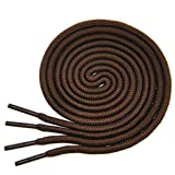 "BIRCH's Round Shoelaces 27 Colors 3/16"" Thick Shoe Laces 4 Different Lengths (56"" (142cm) - XL, Chocolate)"