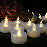 Flameless LED Tea Light Mini Candles, Battery Powered Non-flickering Small Fake Candles Wedding Decorations, Pack of 12