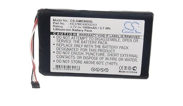 CS-GME800SL Batería 1000mAh Compatible con [Garmin] Edge 800, Edge ...