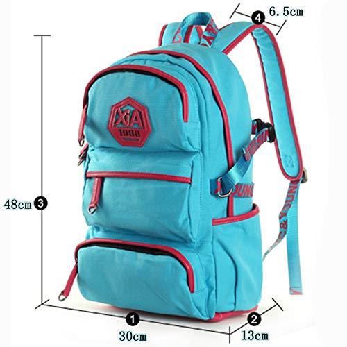 13 30 48 zaino portatile in retro a blu tela scuola computer a Borsa cm tracolla Il formato zaino in 6qZwSI