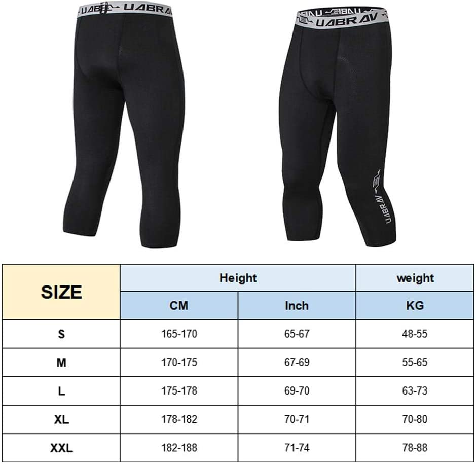Leggings for Men Basketball Running Training Goodshare Sports Tights Breathable Fitness Compression Bottoming Pants Control Workout Active Fitness Pants
