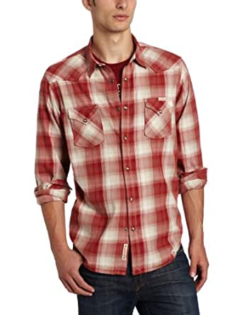 Lucky Brand Men's Western Shirt, Red/Multi, Small