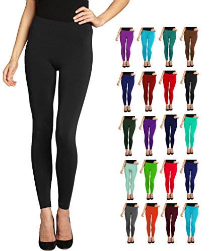 Lush Moda Seamless Full Length Basic Leggings - Variety of Colors by LMB