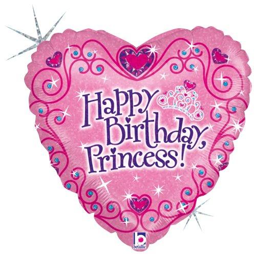 (Betallic Happy B'day Princess Foil Package Balloon, 18