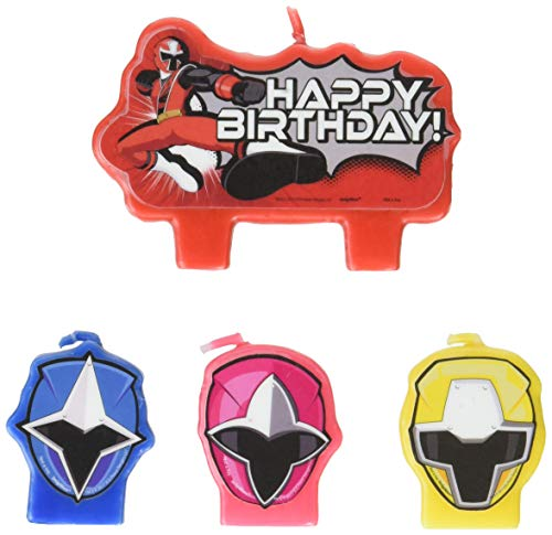 amscan Power Rangers Ninja Steel Candle Set -