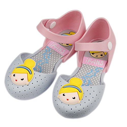 iFANS Girls Cute Princess Jelly Shoes Mary Jane Flats for Toddler Little Kids Blue