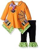 Bonnie Baby Baby Girls' Halloween Knit Appliqued Legging Set
