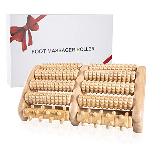 Wote Wooden Foot Massager Roller Wood Care Massage Reflexology Relax Relief Massager Spa Gift Foot Massage