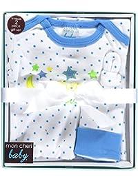 "Mon Cheri Baby Baby Boys' ""To the Moon"" Nightgown & Cap Gift Set"