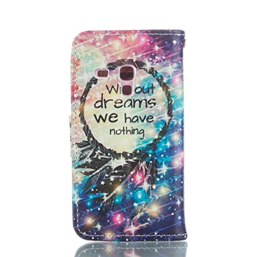 Leder Hülle für Samsung Galaxy S3 Mini,Blumen Hülle für Samsung Galaxy S3 Mini,Glitzer Hülle für Galaxy S3 Mini,Galaxy S3 Mini Leder Handy Wallet Tasche Flip Cover Etui Case,EMAXELERS Galaxy S3 Mini H Colorful Pattern 10