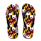 Unisex Summer Flag Of Maryland Flip Flop Shower Sandal