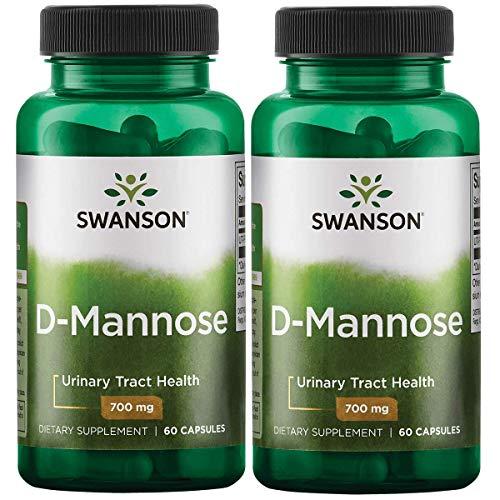 Swanson D-Mannose 700 mg 60 Caps 2 Pack