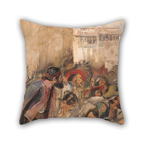 [Alphadecor Oil Painting John Frederick Lewis - Study For The Proclamation Of Don Carlos Cushion Covers 16 X 16 Inches / 40 By 40 Cm Gift Or Decor For Deck Chair,kids Boys,play Room,adults,bar,son] (Henry V Play Costumes)