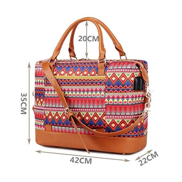 Borsone da viaggio weekend Borsa da palestra handbag Tote da borsa sportiva con porta USB Borsa tote per laptop comoda… 6 spesavip