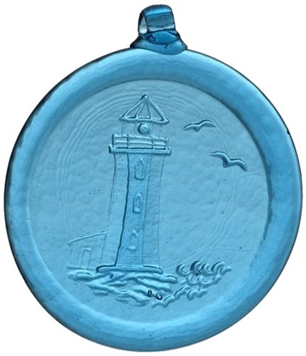 Kitras 3-Inch Lighthouse Suncatcher, Aqua ()
