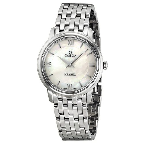 Omega De Ville Prestige Mother of Pearl Dial Stainless Steel Ladies Watch 424.10.27.60.05.001