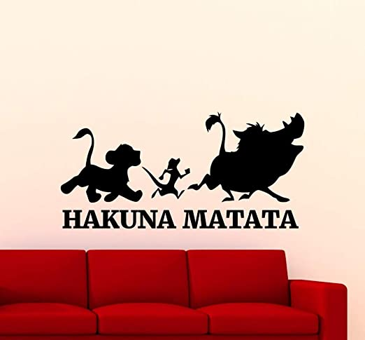tzxdbh Lindo Hakuna Matata Rey León Etiqueta de La Pared de ...