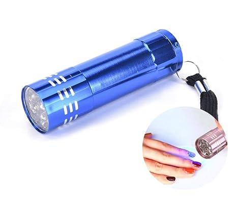Sécheuse Uv Mini 9 Led Aluminium Lampe Pour 1pc Bleu En Torche hdCxQtsBr