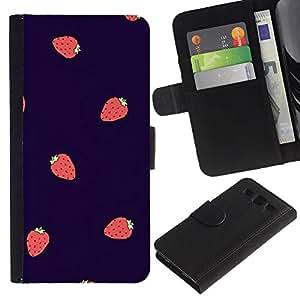KingStore / Leather Etui en cuir / Samsung Galaxy S3 III I9300 / Lila