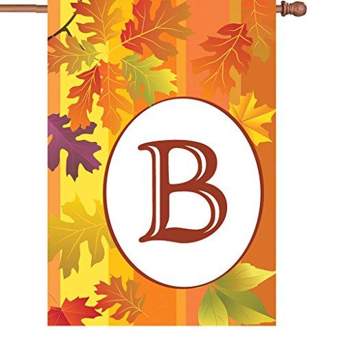 Premier Kites 52405 Fall Monogram House Flag, Letter B, 28-Inch For Sale