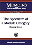 img - for The Spectrum of a Module Category (Memoirs of the American Mathematical Society) by Henning Krause (2001-01-23) book / textbook / text book