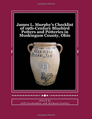Read Online James L. Murphy's Checklist of 19th-Century Bluebird Potters and Potteries in Muskingum County, Ohio pdf epub